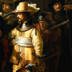 La ronda nocturna, de Rembrandt (detalle)