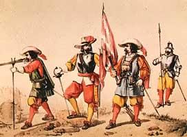 Fuerzas militares del siglo XVII. Archivo Histórico Militar. Madrid