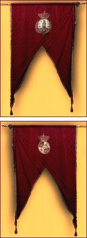 Pendón Real de la Ciudad de Betanzos. Armas de la ciudad y del reino.