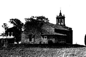 Iglesia y cementerio de San Martín de Tiobre, s. XII (Foto del ilustre artista Veiga Roel. Archivo del Autor)