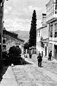 La Calle de Santiago, a principios del s. XX (Foto Ferrer)