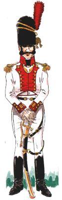 Sargento de Granaderos del Regimiento Provincial de Betanzos, publicado por el autor en Militaria-84. Dibujo de José M. Bueno.
