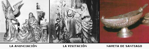 La Anunciación, la Visitación y la naveta de Santiago