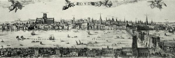 Panorámica de Londres, por Claes Jansz. Visscher, 1616.