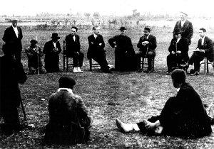 Reunión vecinal a principios del s. XX