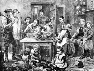 """""""El hogar de los campesinos"""" - 1872"""