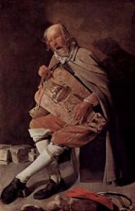 El tocador de zanfonía - Georges de La Tour