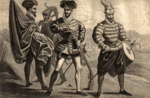Vestimenta militar de la época
