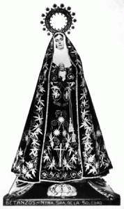 Nuestra Señora de la Soledad. Foto: Antonio Núñez (1920)