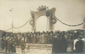 Andén de recepción de la estación Betanzos-Pueblo, 1912