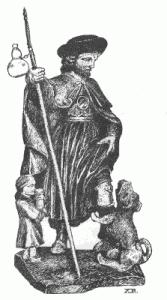 Relicario de San Roque del s. XVIII. Propiedad del autor.