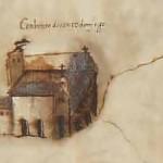 El convento de Santo Domingo. Detalle de un plano de Betanzos de 1616. A.H.N. Consejos. Sig., 43581