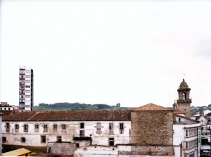 La esquina izquierda del lienzo, construido en 1582, foto de Fersal, junio 1981