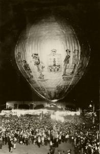 El globo de Betanzos de 1965. Foto Selgas.