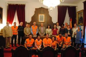 Recepción a la INTO en la Sala Capitular del Ayuntamiento de Betanzos