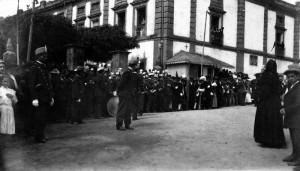 Visita de Alfonso XIII a Betanzos. Foto de Antonio Núñez Díaz, archivo del autor.