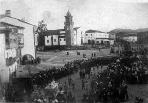 Procesión del Santo Entierro en 1894. Obsequio del pintor Seijo Rubio al autor.
