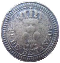 Botón de la uniformidad del Regimiento Provincial de Betanzos, propiedad del autor.