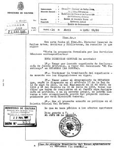Incoación de expediente de Jardín Artístico a favor del Pasatiempo (1981)