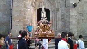 Custodia procesional que se conserva en la iglesia de Santiago