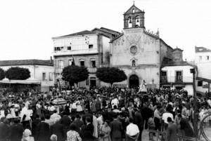 La Procesión de San Roque el 15 de agosto de 1959. Foto Gabín, archivo del autor.