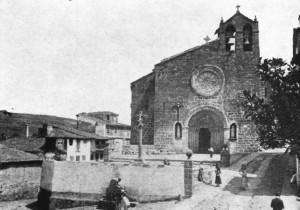 La iglesia de Santa María a principios del siglo XX