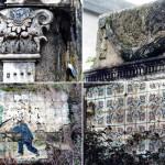 Pasatiempo. Collage con detalles de la Casa de los Espejos. Fotos del autor.