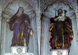 Virgen de los Dolores y San José, atribuidas al escultor José Ferreiro.