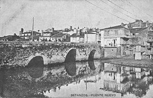 El Puente Nuevo visto desde el embarcadero de las desaparecidas «Industrias Núñez». La tarjeta está fechada el 22 de Mayo de 1914. Archivo del autor.