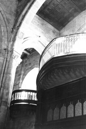 Coro de la Iglesia de Santiago (1960). Archivo del autor.